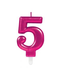 Nummerlys nr. 5 - Pink