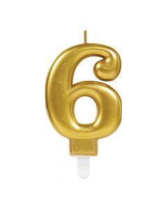 Nummerlys nr. 6 - Guld