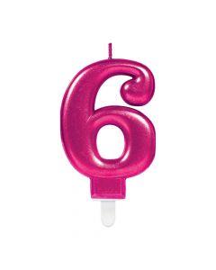 Nummerlys nr. 6 - Pink