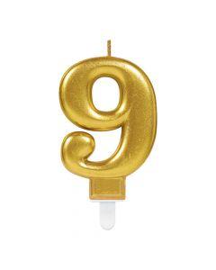 Nummerlys nr. 9 - Guld
