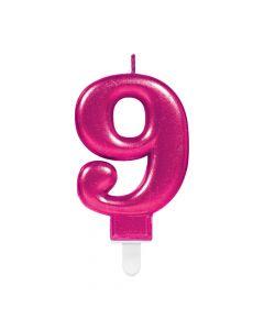 Nummerlys nr. 9 - Pink