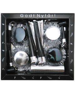Nytårs kit i sølv og sort