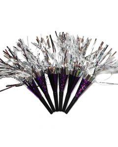Nytårshorn i lilla og sølv