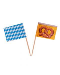 Pindeflag til oktoberfest 50 stk.