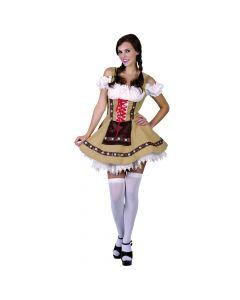 Oktoberfest kjole i beige