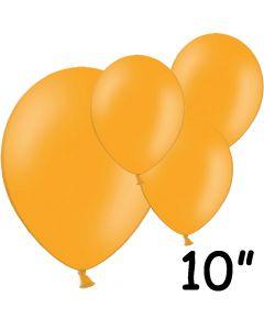 "Orange balloner 10"" - 100 stk."