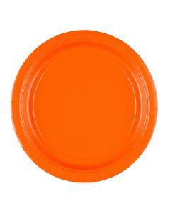 Orange paptallerkner 8 stk.
