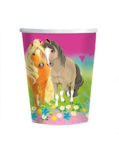 Papkrus med heste