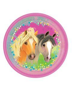 Paptallerkner med heste