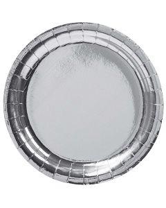 Sølvmetallic paptallerkner