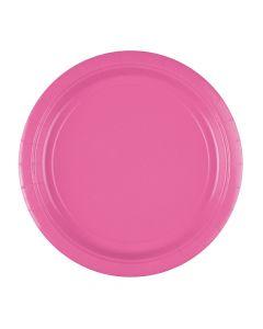 Pink paptallerkner 8 stk.