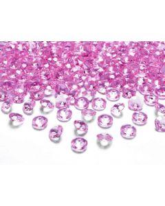 Pink pynte diamanter 100 stk.