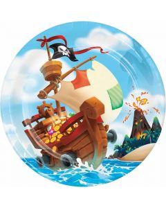 Paptallerkner med Pirat tema
