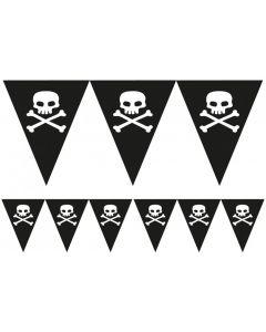 Pirat vimpel banner med Jolly Roger
