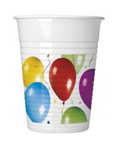 Plastikkrus med balloner