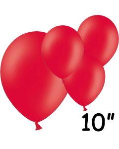 """Røde balloner 10"""" - 100 stk."""