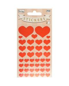 Røde hjerte stickers
