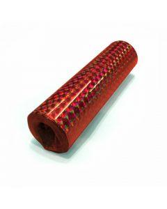 Røde holografiske serpentiner