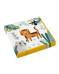 Servietter med Safari servietter