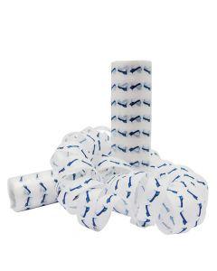 Serpentiner med blå studenterhuer