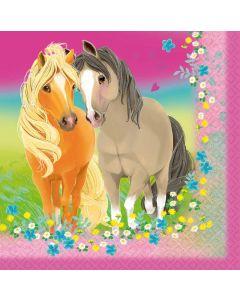 Servietter med heste
