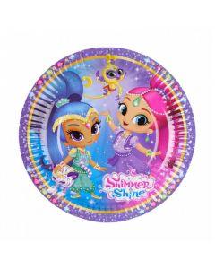 Shimmer & Shine kagetallerkner 8 stk.