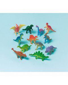 Små dinosaurer i plast