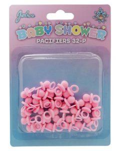 Små lyserøde sutter til babyshower