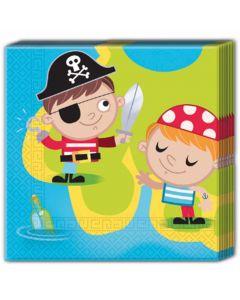 Små Pirater servietter 20 stk.