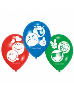 Smiley Emoticons balloner 6 stk.
