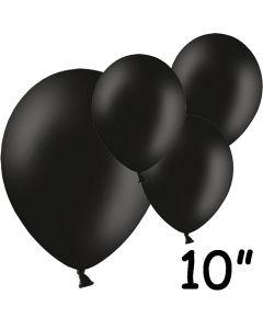 """Sorte balloner 10"""" - 100 stk."""