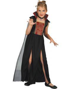 Halloween børne kostume - Vampiress Black - Str. 122-134