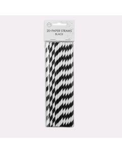 Papsugerør sorte og hvide