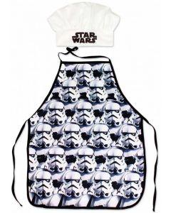 Star Wars forklæde og kokkehue