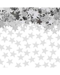 Konfetti sølvstjerner