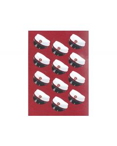 Stickers rød studenterhue