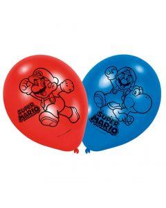 "Super Mario balloner 9"" - 6 stk."