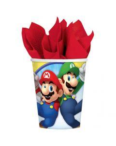 Super Mario papkrus 8 stk.