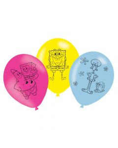 Latex balloner med Svampebob Firkant motiver
