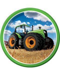 Traktor paptallerkner 8 stk.