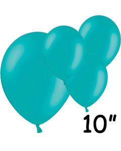 "Turkise balloner 10"" - 100 stk."