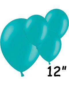 "Turkise balloner 12"" - 100 stk."