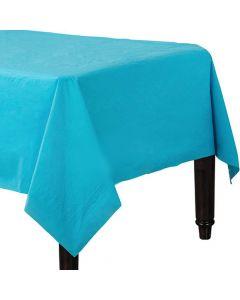Turkis blå papirdug 137 x 274 cm.