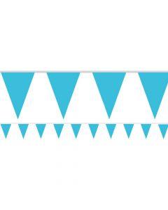 Vimpel banner 4,5 m. - Turkisblåt