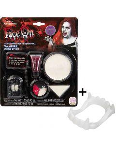 Vampyr sminke med hugtænder
