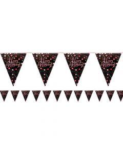 Happy Birthday vimpel banner 3,96 m. - Pink
